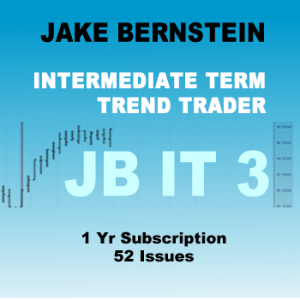 "Jake Bernstein Intermediate-Term Trader  JBIT 3  - 1 Yr <p style=""color:red;"">REG PRICE $2900  SALE $895<br>SAVE $2005</p>"